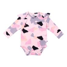 Milk & Masuki Long Sleeve Bodysuit with Ruffle - Colourdrift