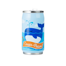 Beatrix Cozy Can Drink Bottle - Lucas and Nigel (Whale and Shark)