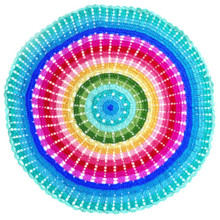 O.B. Designs Round Throw/Rug - Rainbow