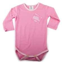 Little Flock of Horrors - The Boss Bodysuit - Chateau Pink (LAST ONE LEFT - SIZE 12-18M)