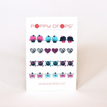 Poppy Drops Pierce Free Earrings - Girls Rock Collection