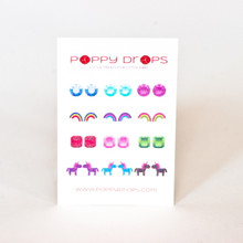 Poppy Drops Pierce Free Earrings - Glitter Collection