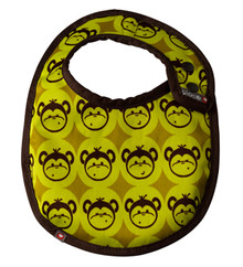 Close Pop-in Stage 1 Bib - Green Monkey