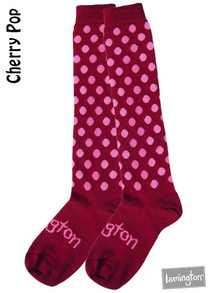 Lamington Adult Merino Socks - Cherry Pop