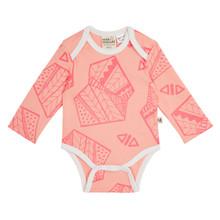 Milk & Masuki Long Sleeve Bodysuit - Playtime Peach (LAST ONE LEFT - SIZE NEWBORN)