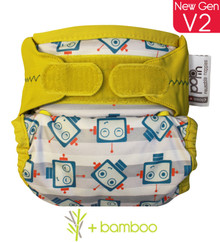 Pop-in Bamboo Nappy - Robots