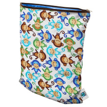Planet Wise Medium Wet Bag - Monkey Fun (OUT OF STOCK)