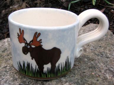 Whimsical Moose mug