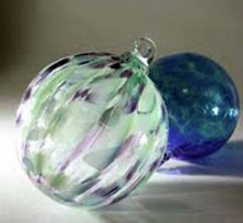 Hand Blown Swirled Glass Ornaments