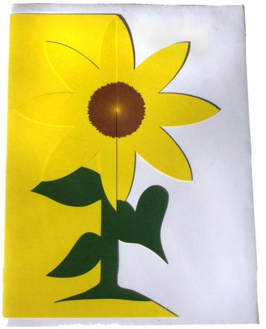 Brighten someone's day with this special three-dimensional sunflower card