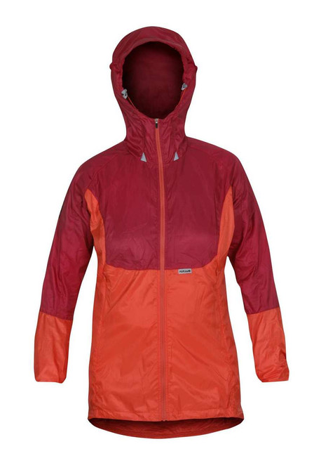 Páramo Women's Alize Windproof Jacket: Carmine and Hot Coral