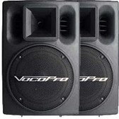 VocoPro PV-802 400 Watt Powered Speakers (PAIR)