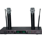 Audio2000's AWM6122U Plug-In-N-Recharge UHF Dual-Channel Wireless Microphone System