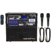 VocoPro HERO-REC Basic Multi-Format Karaoke Player with Digital Reverb and 2 Corded Mics