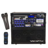 VocoPro HERO-REC-VHF Multi-Format Karaoke Player with Digital Reverb and 2 Channel Wireless Mic