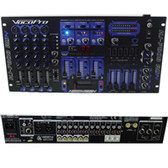 VocoPro KJ-7808 RV 3 Channel Audio/Video Mixer with 4 MIC Inputs