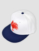 Sydney Roosters Classic Heritage Flat Peak Cap - White