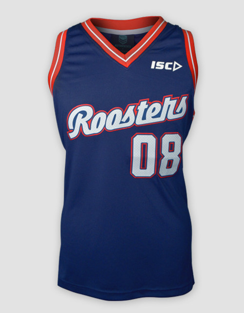 Sydney Roosters 2015 Mens ISC Basketball Singlet - Navy