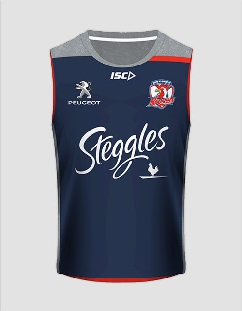 Sydney Roosters 2016 Mens Training Singlet - Navy
