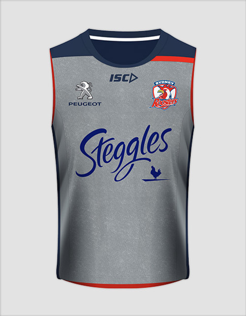 Sydney Roosters 2016 Mens Training Singlet - Grey
