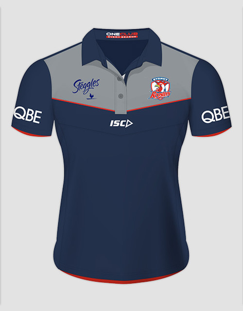 Sydney Roosters 2016 Ladies Media Polo - Navy/Grey