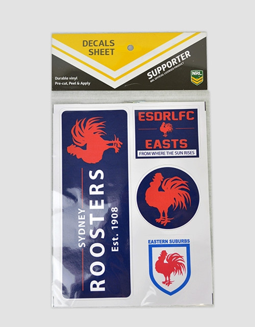 Sydney Roosters Heritage Decals Sheet