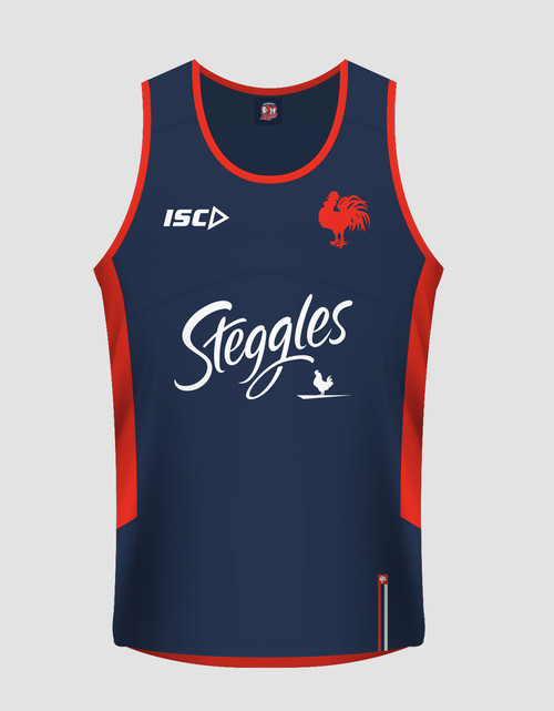 Sydney Roosters 2017 Mens Training Singlet - Navy/Red