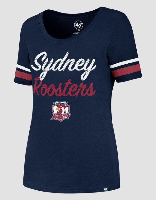 Sydney Roosters 2017 47 Brand Womans Sparkle Scoop Tee
