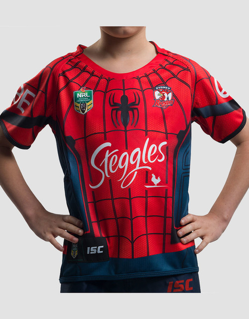 Sydney Roosters 2017 Kids Spider-Man Marvel Jersey