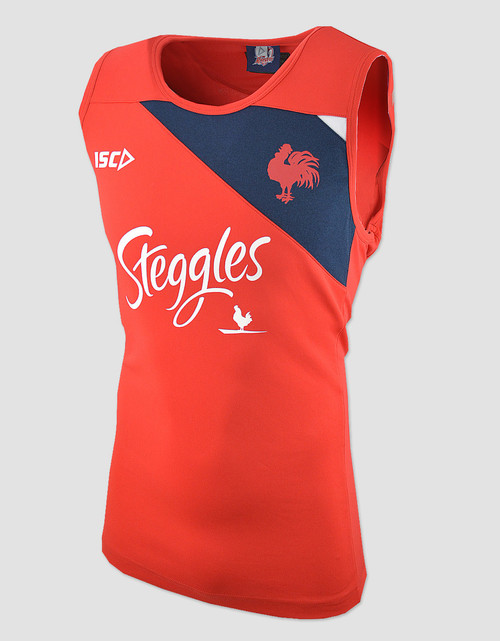 Sydney Roosters 2018 Mens Training Singlet - Red/Navy