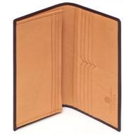 Launer wallet in bridle hide 659 brown tan open