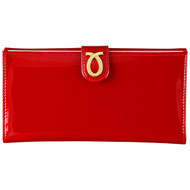 launer large purse in style 103 patent red front