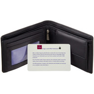 RFID Blocking Leather Wallet by Mala Leather129 Black - Card