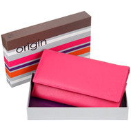 Mala Leather Origin Purse with RFID Shielding: 3272 Pink Box
