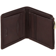 Golunski Leather Wallet with Zip 7-9320 Brown: Open