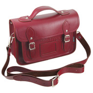 Yoshi Leather Satchel - Dewhurst Red: Strap
