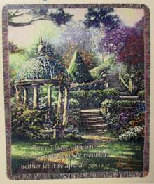 Gazebo of Prayer Tapestry Throw