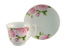 Pink Rose Tea Cup & Saucer (6 sets)