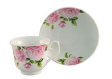 Pink Rose Tea Cup & Saucer (6 sets)