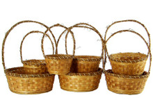 Woodchip/Vine Basket Set (7)