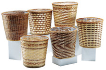 Bamboo Pot Cover Basket