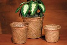 Straw Roll Rim Pot Cover