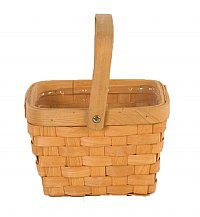 "7"" Square Woodchip Basket"