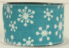Modern Flakes Ribbon-Caribbean Blue