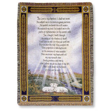 23rd Psalm Tapestry Throw