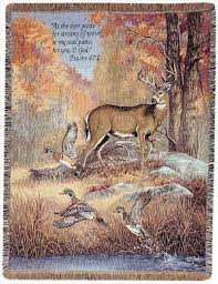 Fur, Feathers & Fall Tapestry Throw
