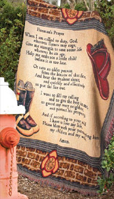 A Fireman's Prayer Tapestry Throw