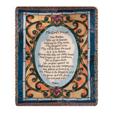 Lord's Prayer Tapestry Throw