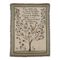 Serenity Prayer Tapestry Throw