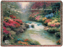 Beside Still Waters Tapestry Throw